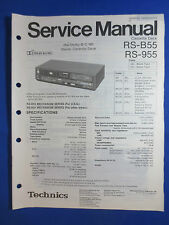 TECHNICS RS-B55 RS-955 CASSETTE SERVICE MANUAL ORIGINAL FACTORY ISSUE