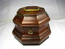 COLONIAL WILLIAMSBURG MAHOGANY TEA CADDY BOX Virginia USA ca1950s USED