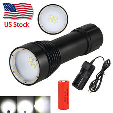 8000LM 4x XML L2 LED Underwater 100M Scuba Diving Flashlight Torch 26650 Lamp
