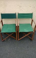 Directors Camping Caravanning Folding Chairs x 2.