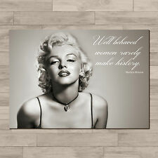 Marilyn Monroe. Inspirational quote. A4 Canvas paper poster print.