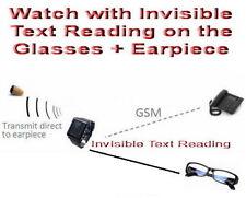 GSM Watch Glasses Earpiece Spy Hidden Iris SIM Covert Bluetooth Cheat Exam Test