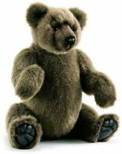 Hansa Silvery Brown Jointed Teddy Bear Childrens Soft Toy Gift, 4477