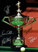 Ronnie O'SULLIVAN Multi Signed Champions Autograph 16x12 SNOOKER Photo AFTAL COA
