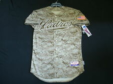 Authentic Majestic 40 MEDIUM SAN DIEGO PADRES CAMO COOL BASE On Field Jersey