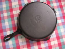 Griswold Cast Iron Skillet #9 Hinge Handle Small logo #2509 cleaned & Seasoned