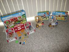 PLAYMOBIL 5983 5107 5110 Country Pony Stable Horse Farm 3 sets