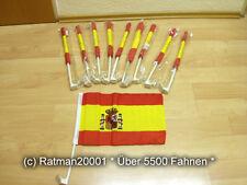 Fahnen Flagge 10 x Spanien Auto Fahne Autoflagge - 30 x 45 cm