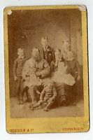 (Lb5401-427) Real Victorian Cabinet Photo, Family, Newnham, BOURNEMOUTH