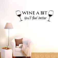 Wine A Bit Wall stickers Home Decal Removable Mural Deco Vinyl Au DIY