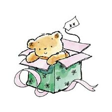 PENNY BLACK RUBBER STAMPS UNWRAPPED BEAR STAMP