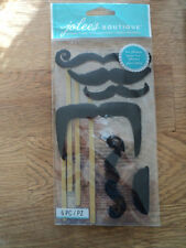 EK SUCCESS JOLEE'S BOUTIQUE MOUSTACHES ON STICKS DIMENSIONAL STICKERS BNIP