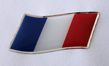 45mm WAVING FRANCE FLAG Sticker/Decal - WITH A HIGH GLOSS DOMED GEL FINISH