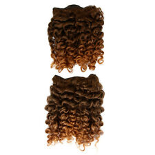 "Rod Curl Afro Hair Extensions Weave On Weft - 14"" Inch - Light Brown and Auburn"