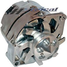 ALTERNATOR HIGH OUTPUT CHROME BILLET Fits CHEVY HOT ROD 12Clock Position 140 AMP