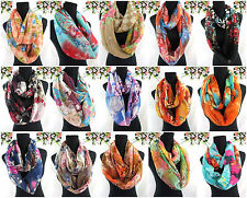 US SELLER-$2.75/pc, 15pcs Loop Scarf retro flower boho 2-loop infinity scarf
