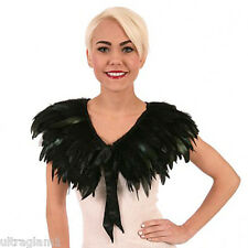 BLACK ROOSTER COQUE FEATHER NECKLINE COLLAR/ CAPE/BOA/ TRIM/COSTUME/DRAG QUEEN