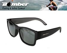 Bomber Floating GOMER Sunglasses Matte Black w/ Smoked Polarized Lens Mens Shade