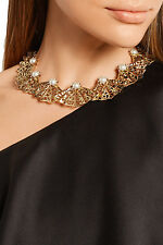 Oscar de la Renta Gold-plated Statement Necklace BOXED RRP595GBP, great gift