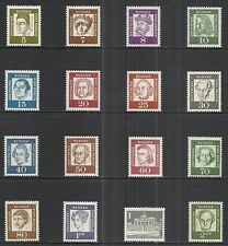 GERMANY: BERLIN: SCOTT 9N176 - 9N190 MNH COMPLETE SET - 1961/62 ISSUE