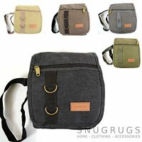 Unisex Travel / Work Canvas 'Small Messenger' Style Shoulder Bag (5 Colours)