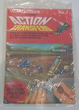 Letraset Action Transfers - BUILDERS - Red Series - Unused and in sealed pack