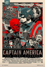 SOUGHT-AFTER! Tyler Stout CAPTAIN AMERICA Art Print - SIGNED Lottery Edition