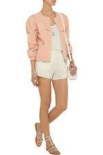 Etoile ISABEL MARANT Clayton coated linen-blend jacket, size 38, AUS 6-8, NWT