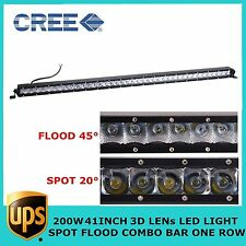 200W Cree 41inch Led Off-road Combo Light Bar Single Row Ford 4x4wd Jeep Toyota