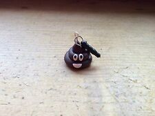 dust plug Pile Of Poo Emoji Handmade Cute Charm Stopper