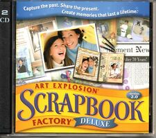 NOVA ART EXPLOSION SCRAPBOOK VERSION 2.0 FACTORY DELUXE - PC 2 CD - EXCELLENT