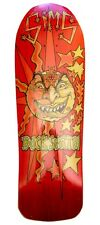 Sims Buck Smith SUN Skateboard Deck RED STAIN w/ORANGE/YELLOW