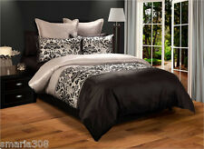 Darcy Black - King Bed Quilt Cover Set - by Georges Fine Linens Great Gift idea!