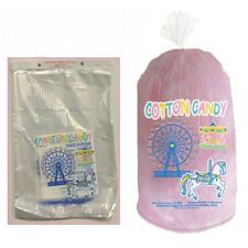 "100 ct Plastic Cotton Candy Floss Bags w/ Ties -12"" x 18"" Concessions Wholesale"