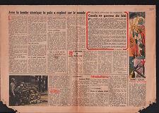 Saint-Louis Roi de France/Bombe Atomique/Cassis & Germe de Blé 1945 ILLUSTRATION