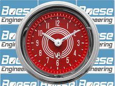 """Classic Instruments V8 Red Steelie 2 1/8"""" Clock"""