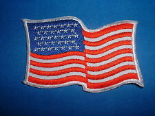 USA Waving Old Glory Embroidered Flag Patch Brand New