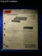 Sony Service Manual RM X2001 / X2001VF CD Changer Commander (#1072)