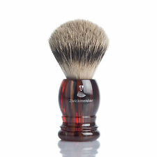 ZWICKMEISTER Rasierpinsel HAVANNA Silberspitz shaving brush silvertip 21mm