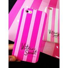 Cute Lovely PINK Stripe Soft Silicone Case Cover for iPhone 4 5S 6 6Plus Samsung