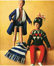 "12-13""  Dolls clothes knitting pattern.Laminated copy.(V Doll 120)"