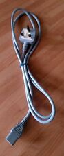 1.8m Power Cord UK Plug to IEC / C13 Female - Grey