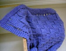 Knitting Pattern For Basket Weave Cotton Yarn Baby Blanket