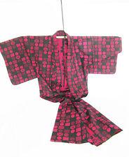 - KIMONO  - Japon Asie XXe rouge et noir   - n'a pas été porté - Superbe !