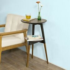 SoBuy® Design Beistelltisch mit 2 Tischplatten, Couchtisch, Kaffeetisch,FBT39-BR