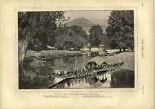 1873 Dhul Canal Kashmir Maharaja State Barge