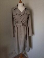Zara Trench Coat Size UK Small - Stone Grey Colour With Blue Stripe Lining