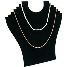 Hot Necklace Jewelry Pendant Chain Display Holder Stand Velvet Easel Black #