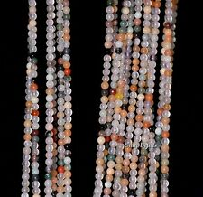 2MM PARTY MIXED AGATE GEMSTONE ROUND 2MM LOOSE BEADS 16""