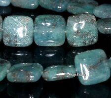 12MM DARK APATITE GOLD RUTILE INCLUSIONS GEMSTONE GRD AA SQUARE LOOSE BEADS 16""